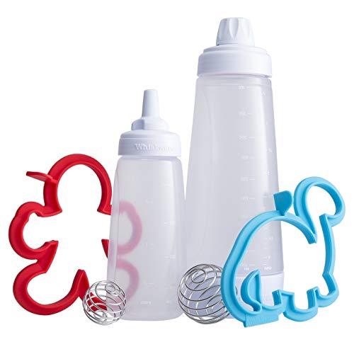 Whiskware Pancake Art Kit with Batter Mixer, Art Bottle, BlenderBall Wire Whisk and 2 Pancake Shapers