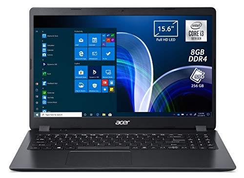 Acer Extensa 15 EX215-52-31S9 Pc Portatile, Notebook con Processore Intel Core i3-1005G1, Ram 8 GB DDR4, 256 GB PCIe NVMe SSD, Display 15.6' FHD LCD, Scheda Grafica Intel UHD, Windows 10 Pro, Nero