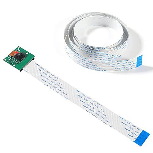 Dealikee Octoprint Octopi Webcam Mini Camera Video Module 5 Megapixels Monitor 3D Printer with 3.28FT/100CM Long Extension Flex Ribbon Cable for Raspberry Pi A/B/A+/B+, 2, 3, 3B+