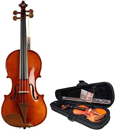 SOAR Violine Leichte Violine, Holz handgemachte akustische Violine-Geige-Kit 4-String-Instrument mit Harter Fallbogen-Bogen-Kolophonium-sauberes Tuch für Studentenanfänger