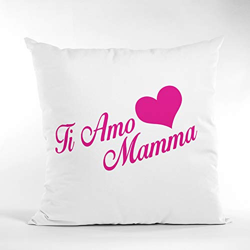 love print Día de la Madre - Cojín cuadrado 40 x 40 cm con texto 'Ti Amo Mamma