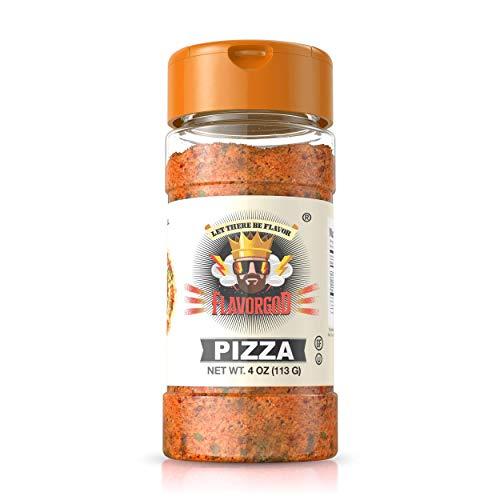 Healthy FlavorGod Pizza Seasoning - Zero Calories, Low Sodium, Zero Carbs, Zero Sugar, No MSG, Gluten Free, Paleo Friendly, Vegan, Dairy Free, Keto Friendly, Kosher