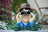 Deko Shop Cologne Spanner Figur Skulptur Jäger Beobachter Garten Fernglas H30 cm