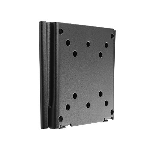 TooQ LP1023F-B - Soporte Fijo de Pared para Monitor/TV/LED/LCD de 10' a 23', hasta 30kg de Peso, Distancia a la Pared de 15 mm, Formato VESA hasta 100x100, Color Negro