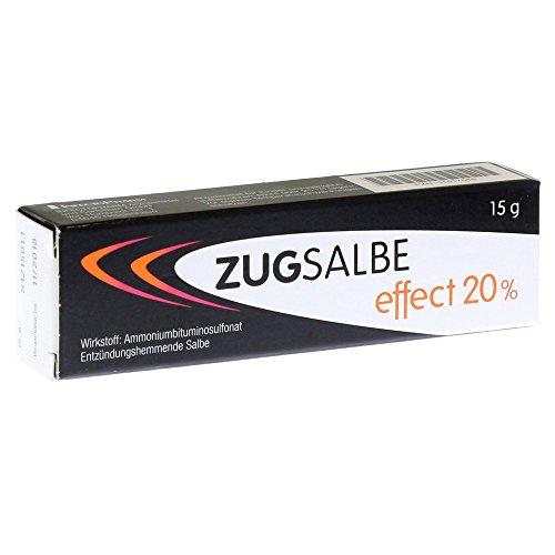 Zugsalbe effect 20% Spar-Set 2x15g. Für oberflächliche, eitrige Hautentzündungen wie Pickel, Rasierpickel, Nagelbett-, Schweißdrüsen- und Haarbalgentzündungen