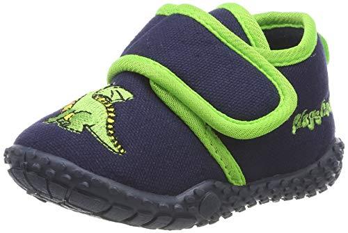 Playshoes Zapatillas Dragón, Pantuflas Unisex niños, Azul (Marine 11), 23 EU