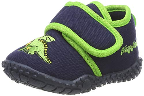 Playshoes Ciabatte-Drago, Pantofole Bambino, Blu Marine 11, 22/23 EU