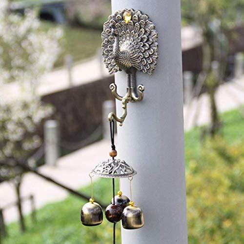 Beeld Beeld Animal muur, Bronzen Bell Wind Bell Legering Shop Thuis Sieraden Deur Decoratie Innovatieve Gift 39x6cm RVS Deurbel Animal muur Figurines