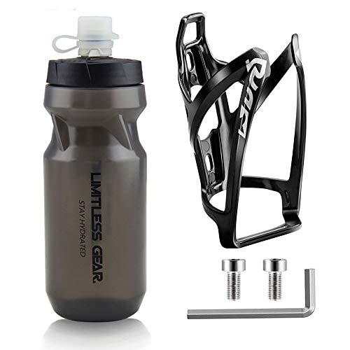 OSIGEI Fahrrad Flaschenhalter mit 21 Oz Fahrradflasche, Leicht GeträNkehalter Fahrrad mit Schrauben - BPA Frei Fahrrad Trinkflasche für Fahrrad, Rennrad, Mountainbikes, ElektrofahrräDer