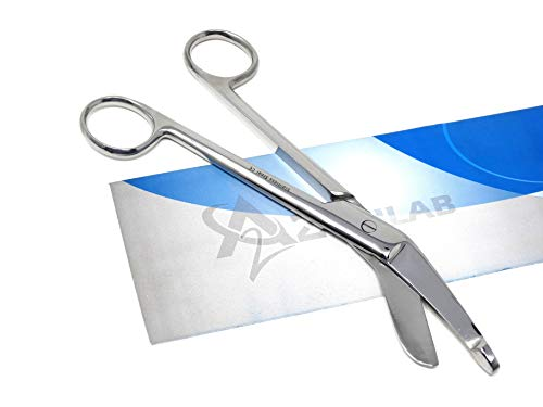 Nurse Doctor Medical Lister Bandage Cutting Trauma Shears Scissors PREMIUM QUALITY (Polish 7.25