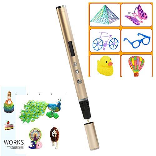 YB3DB Grand 3d Imprimante Enfants 3d Impression Pen Stylo Réglable Vitesse Graffiti Stylo Creative Stereo Diy (50 Rouleaux De Fournitures)