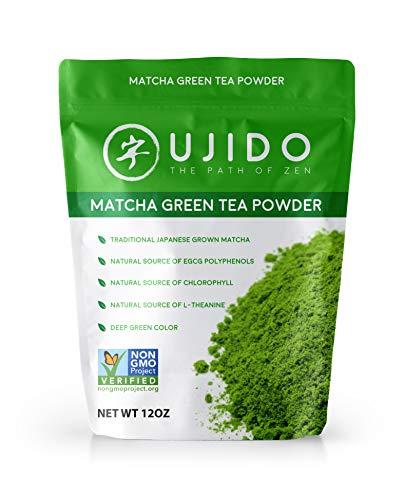 Ujido Japanese Matcha Green Tea Powder - Ceremonial Blend (12 Ounce)