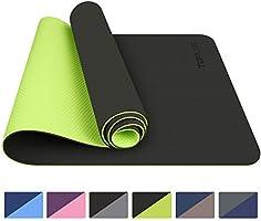 TOPLUS Tapis de Yoga, Tapis Gym - en TPE matériaux Recyclable, Ultra antidérapant et Durable, 183x61x0.6 cm, Non...