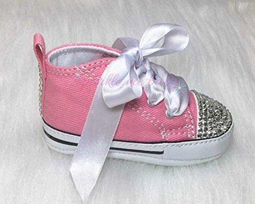 Bling Baby Authentic Crib Shoes in Pink plus MORE Colors NOW ~ Infant Sizes ~ Customized for you by Sparkle Me Baby 2u