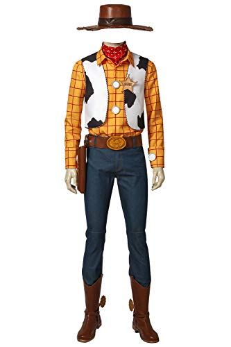 Woody Costume Sheriff Halloween Cosplay Uniform Fancy Dress for Adults XL - http://coolthings.us