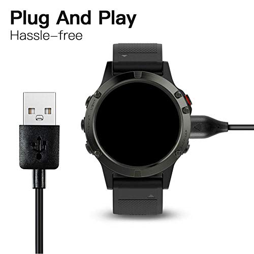 Verloco Smartwatch, USB-oplader, magnetisch, voor smartwatch, voor Garmin Fenix6/6S/6X Pro/5/5S/5X/Forerunner945 935 245/Vivoactive 3/Vivosport