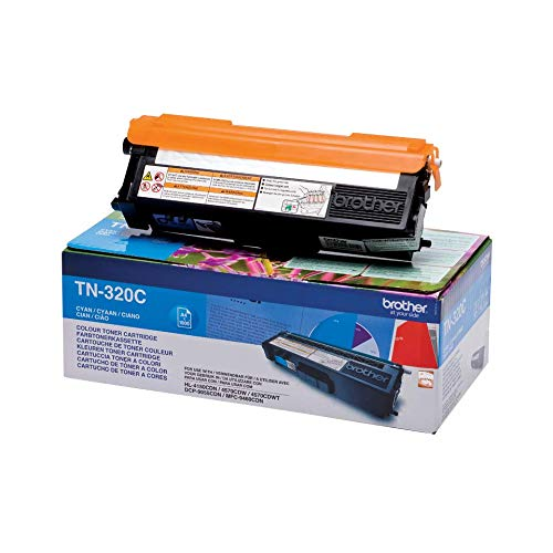 Brother Original Tonerkassette TN-320C cyan (für Brother HL-4140CN, HL-4570CDW, HL-4150CDN, HL-4570CDWT, DCP-9055CDN, DCP-9270CDN, MFC-9460CDN, MFC-9970CDW, MFC-9465CDN)
