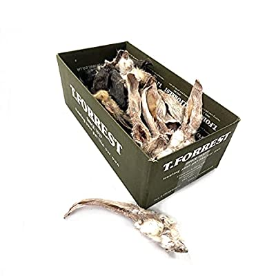British Air Dried Rabbit Ears with Fur x500g For Dogs, 100% Natural Air Dried Treats, Grain & Gluten Free