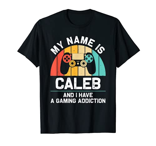 CALEB Regalo Nombre Personalizado Funny Gaming Geek Cumpleaños Camiseta