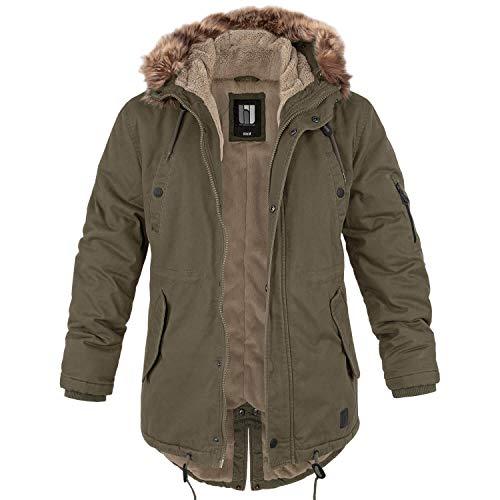 bw-online-shop Winterparka Fishtail mit Futter oliv - XL