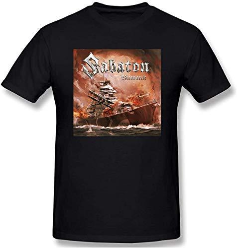 VSYS Biftersc83u Mens Sabaton Bismarck Comfortable T-Shirt Black with Mens Short Sleeve