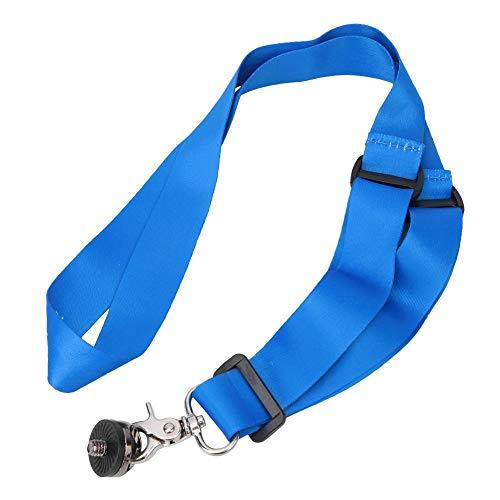 DAUERHAFT Asidero de Bola Base de la Correa para el Cuello Correa Ajustable para el Cuello Base de Mano para la Cabeza esférica con Hebilla adaptadora de Tornillo de 1/4 Pulgada Adecuado(Blue)