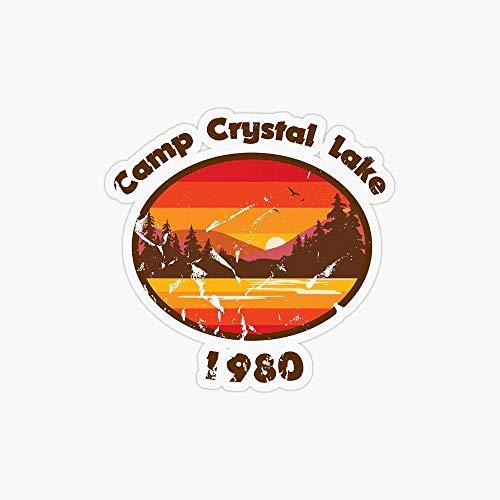 Tra56owe Vinilo adhesivo para portátil de Camp Crystal Lake Friday th, para portátiles, niños, adolescentes, coches, motocicletas, bicicletas, equipajes, parachoques
