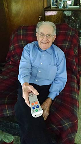 Flipper Big Button TV Remote for Elderly - Universal Simple to Read, Proprietary Favorite Channels, Supports IR TVs, Cable, Satellite & Soundbars -