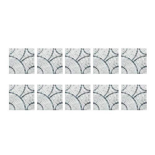 XJF 10 pegatinas para azulejos de pared, impermeables, para decoración de cocina, sala de estar, baño, decoración del hogar