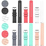 ECSEM Compatible with Fossil Gen 5 Carlyle/Julianna/Garrett Bands Fossil Men's Gen 5E 44mm Bands Replacement Colourful Strap Bracelet, 6Pack 22MM Bands for Fossil Gen 5 Smartwatch, Soft and Durable