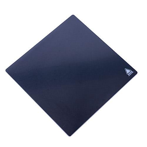 S-TROUBLE Accesorios para impresoras 3D Placa de Vidrio sin Pegamento de Silicona de Cristal de Carbono con Cama Caliente
