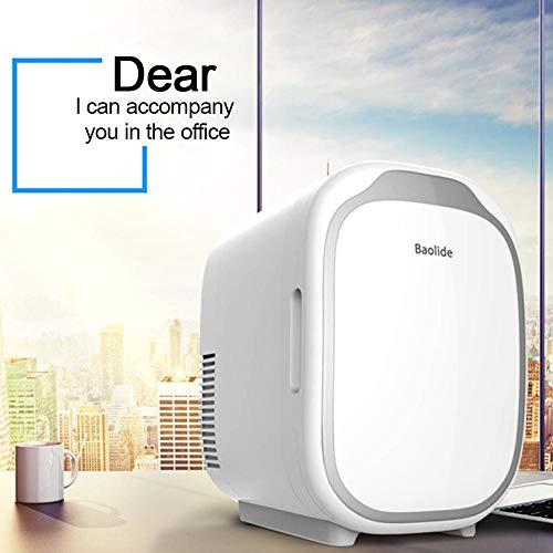 ZLININ Refrigerador de coche mini nevera de 6 l doble uso caja fría pequeña nevera en el coche, oficina, hogar (nombre del color: blanco)