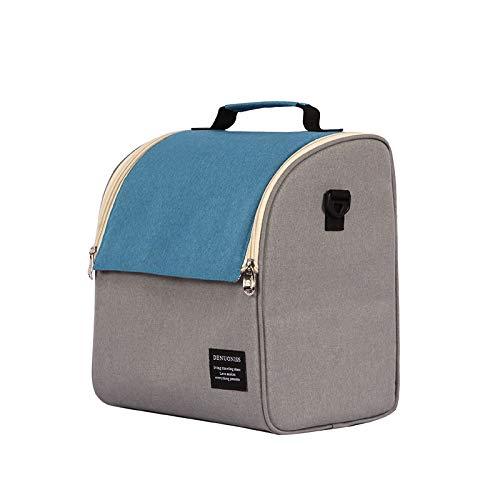 EBONY Moda Bolsa de Aislamiento en frío Bolsa de Almuerzo Espesa Bolsa de Hielo Impermeable Bolsa de Almuerzo Bolsa de Almuerzo 25 * 19 * 29 cm LH115# 001 Azul