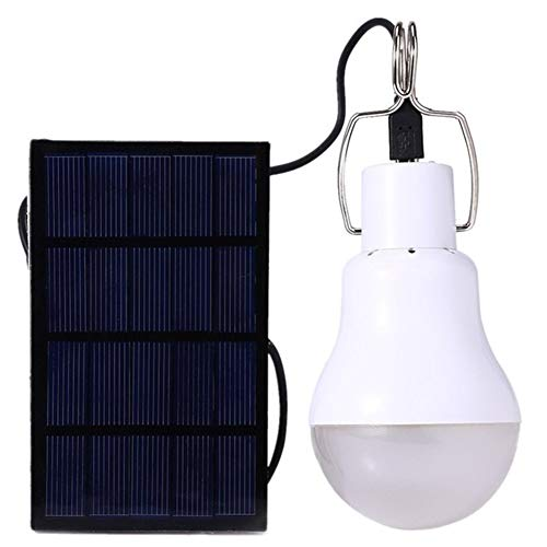 No-Branded Floor lamp Solar LED Rechargeable Lamp Home Portable Outdoor Lighting Portable Camp Tent Mobile Camping Emergency Bulb TATcuican (Color : White, Size : One Size)