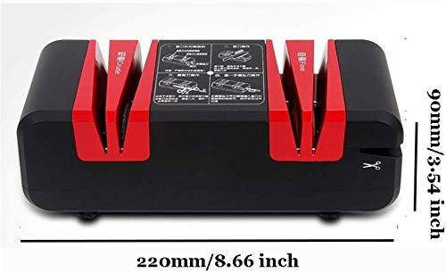 Keukenapparatuur Multifunctionele volautomatische slijpschijf elektrisch mes schaar hoge precisie slijpen keukenmessen wetsteen gereedschap H 3,54 inch, Red Whetstone-mes Eén maat rood