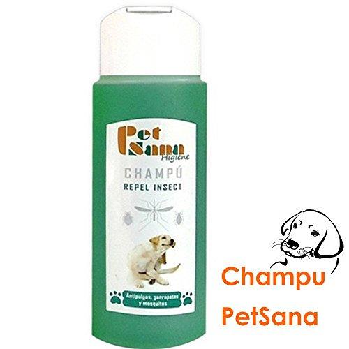 Shampoo repellente insetti per cani, antiparassitario, zecche e zanzare, 250ml