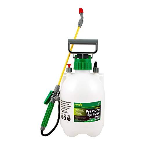 Parkland 3 Litre Pump Action Pressure Sprayer With Pressure Release Valve, Home Garden Knapsack Sprayer Ideal With Pesticides, Insecticides, Fungicides