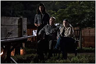 Brett Butler 8 Inch x 10 Inch PHOTOGRAPH The Walking Dead (TV Series 2010 -) Sitting w/Man Nighttime kn