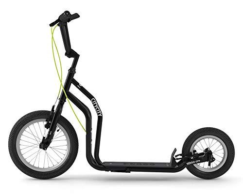 RunRun Yedoo City Scooter 16/12 Zoll schwarz | Tretroller mit Offroad-Reifen | Nachfolgemodell des City New