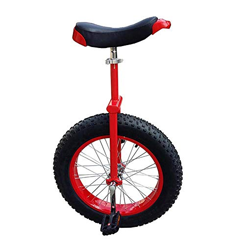 Sale!! EEKUY 20/24 Inch Unicycle, Height Adjustable 100 Kg Load-Bearing Unicycle Fitness Cycle Bike Balance Exercise Bicycle,Red,20 inch