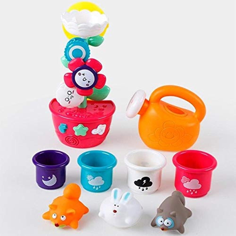 XuBa Baby Kinder Früherziehungs-Bade-Spielzeug, Cartoon-Blaumen, Dusch-Spielzeug, Badezimmer, Wasserbad, Spielzeug, Spielzeug, ZK30 4 Tassen B07MMVX47T Spaß für Kinder     | Schön und charmant