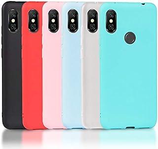 b17b2c04597 Wanxideng 6 x Funda Xiaomi Redmi Note 6 Pro, Carcasa Suave Mate en Silicona  TPU