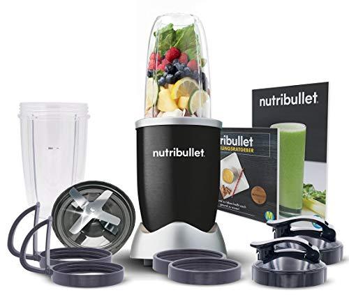 NutriBullet Pro 900W schwarz – Mixer mit Extraktor-Klinge macht aus einfachen Lebensmitteln Superfood – Power Standmixer für gesunde Ernährung – 12tlg.