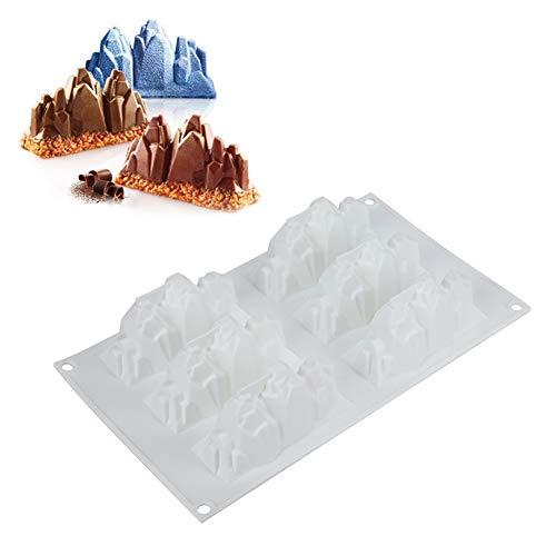 GAESHOW 6 Rejilla DIY moldes de Silicona para Fondant de Grado alimenticio Pastel de Silicona Chocolake Cake Maker Decor