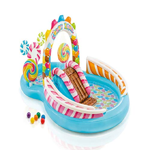 Inflatable Swimming Pool Children'S Inflatable Playground, Candy Multifunctional Slide Pool, Suitable For Children, Babies, Families, Outdoor Gardens, Indoor And Backyard Pool Parties, Children'S Best