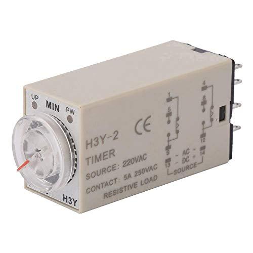 Relé tiempo, H3Y-2 220VAC 8 pines Interruptores relé