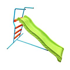 Ultimate outdoor and indoor fun with fade resistant, durable, and vibrantly colored chute and stairs; Supplies endless fun for children ages 4+ Equipped with wide and smooth handrails to make sure children are safe and secure while preparing to slide...