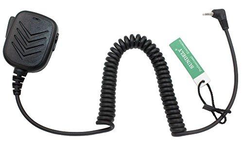 SUNDELY Hand Held Shoulder Microphone PTT with Speaker for Cobra Micro-Talk 2 Way Radio Walkie Talkie CX80 CXT145 CXR950 MT200 PR350 Li-6500 MRHH100 1-pin
