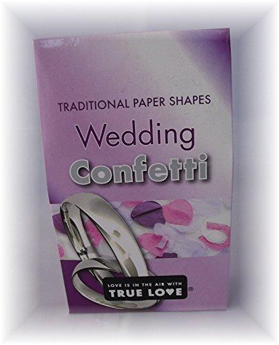 Confetti de mariage - Paquet de 3 - Formé en papier traditionnel