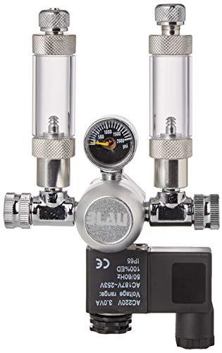 Blau Aquaristic Compact Dual Regler mit Zwei Ausgängen und Magnetventil